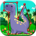 Dinosaur Kids Connect the Dots