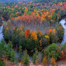 colorful view by Mandy Schram - Landscapes Waterscapes ( #dronephotography, #fallinnorthernmichgan, #phantom3standard, #explorenature, #northernmichigan,  )