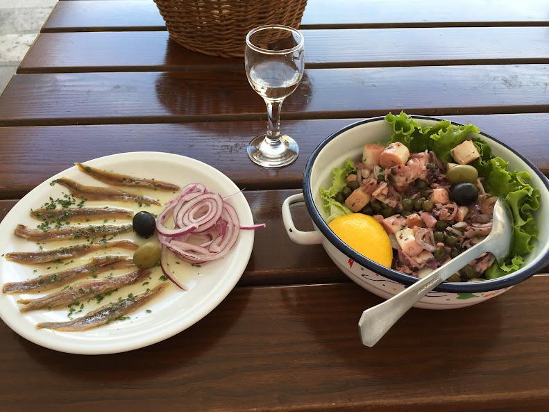 ドゥブロヴニク旧市街 食事