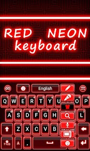 Red-Neon-GO-Keyboard-Theme 5