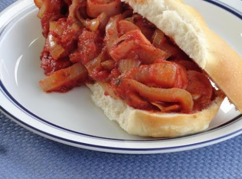 Uncle Matty's Hot Dogs with Onions