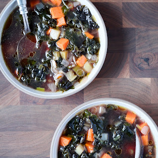 Kale and Sweet Potato Soup With Cumin
