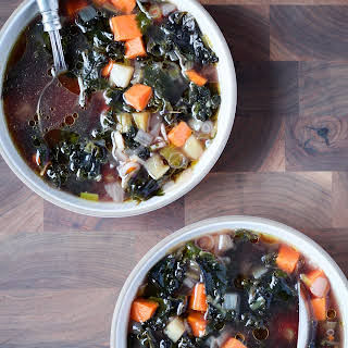 Kale and Sweet Potato Soup With Cumin.