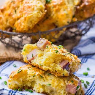 Easy Ham & Cheese Scones.