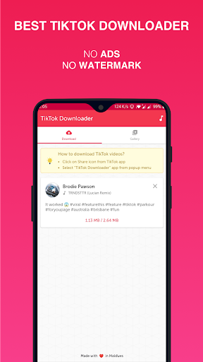 Video Downloader for TikTok screenshot 1