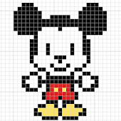 Cartoon Color by Number Pixel Art Drawing icon