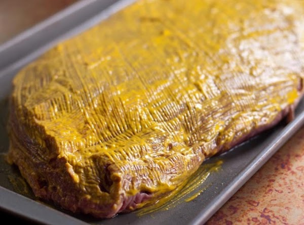1 @ 5-7lb beef brisket, some fat trimmed (individual's choice to trim) Place the brisket...