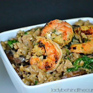 Marsala Risotto with Herbed Shrimp.
