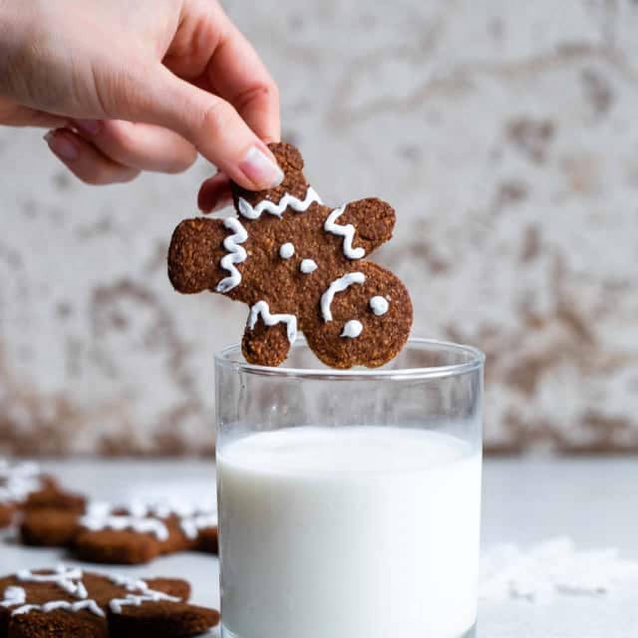 Paleo Healthy Gingerbread Cookies