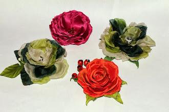 Photo: Готовые цветы из ткани