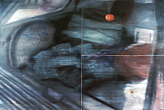 Photo: DOLLA DOLLA BILL YALL     1999 84 x 48 in oil and holographic film on canvas