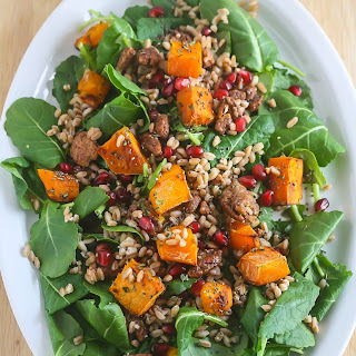 Winter Kale Salad with Butternut Squash and Farro