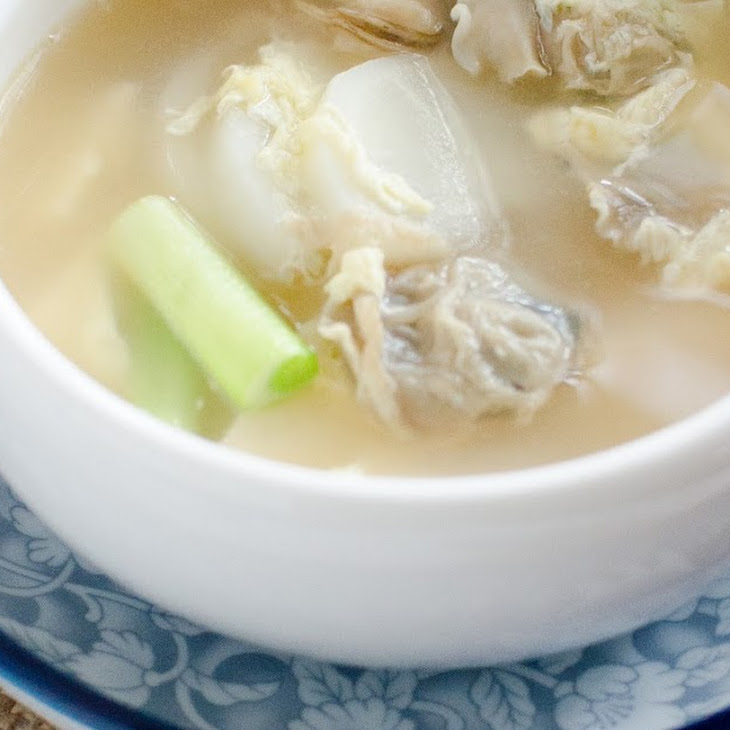 Clam and Radish Egg Drop Soup