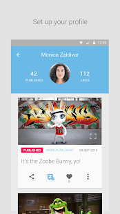 Zoobe - cartoon voice messages- screenshot thumbnail