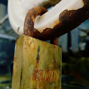 Rusty lock by Marin Mavra - Artistic Objects Industrial Objects ( macro, industrial, vintage, street, locks, lock, rusty, close up, rustic,  )
