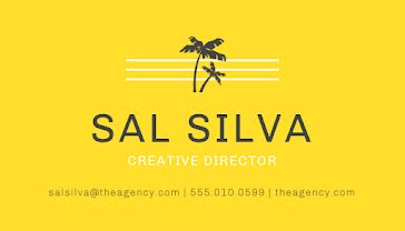 Silva Creative Director - Business Card Template