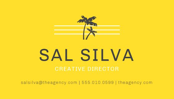 Silva Creative Director - Business Card Template
