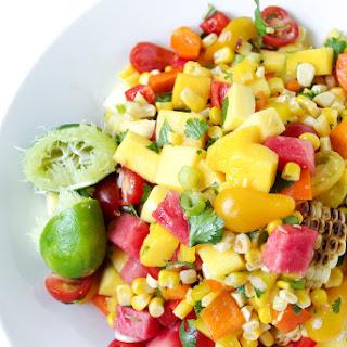 Mango, Watermelon + Corn Salad