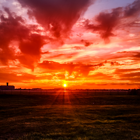 by Rick Touhey - Landscapes Sunsets & Sunrises ( airport sunset, sunset,  )