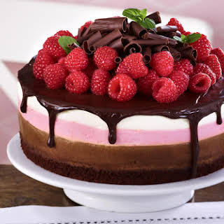 Triple Layer Mousse Cake.