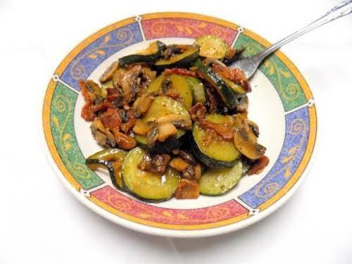 "Zucchini, Bacon and Mushroom Saute ""This is a side dish my husband..."