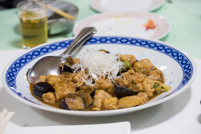 鶏肉・ナス・ブロッコリーの中華炒め