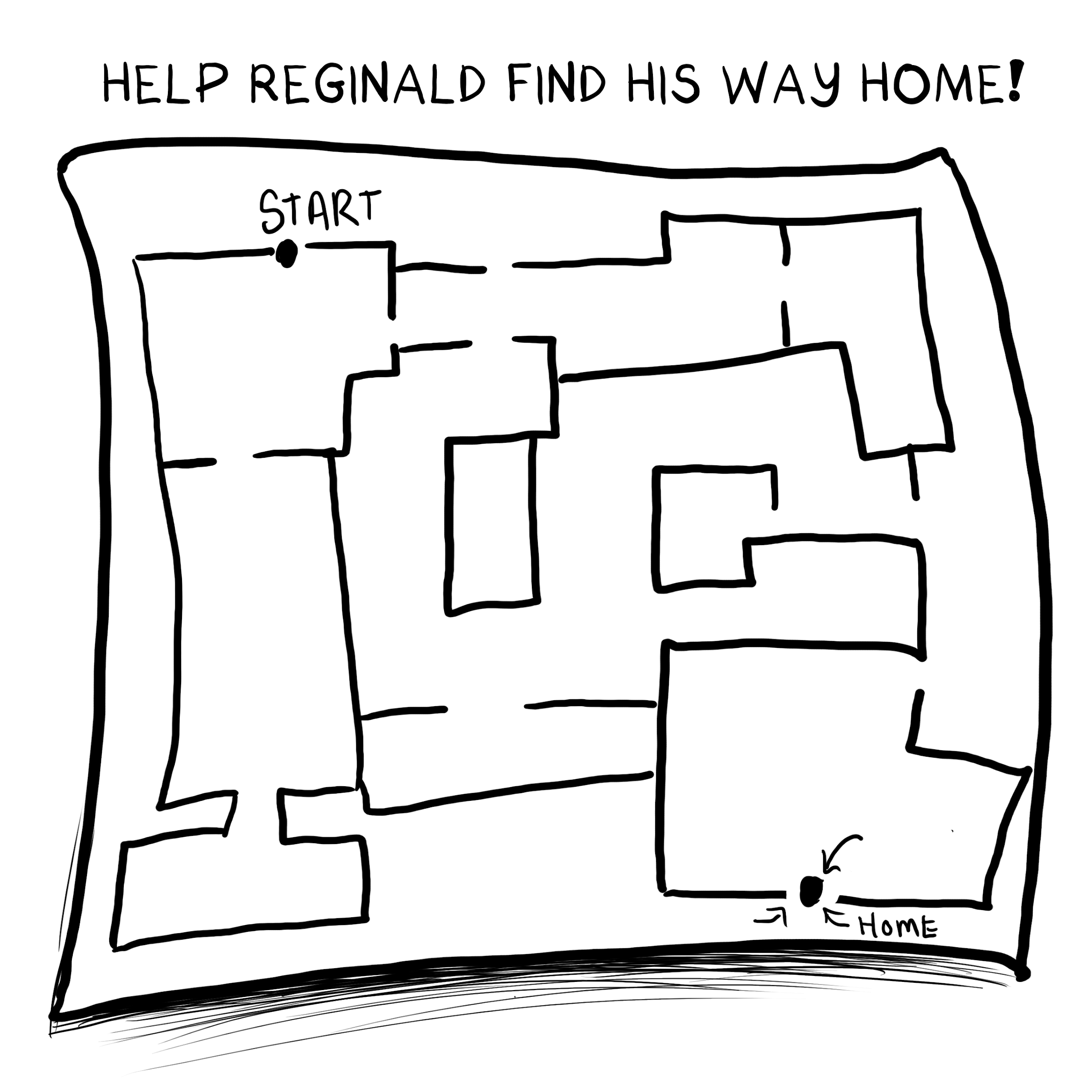 Help Reginald find his way home map