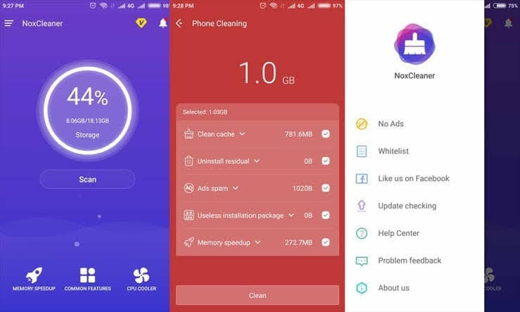 Nox Cleaner app