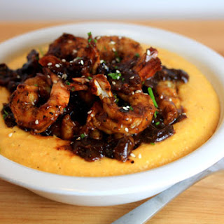 Chinese BBQ Shrimp and Grits