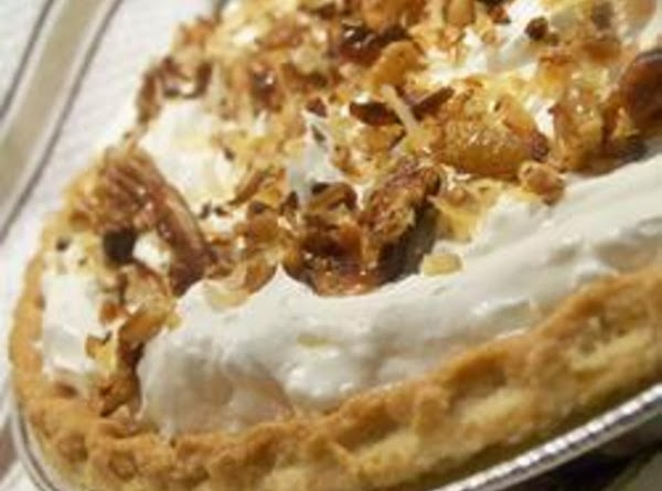 Toasted Coconut, Pecan. Chocolate, And Caramel Pie Recipe
