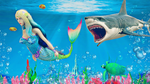 Mermaid Simulator 3D - Sea Animal Attack Games screenshots apkspray 1