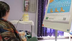 Madre durante el proceso de donación.