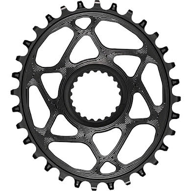 Absolute Black Oval Direct Mount Chainring - Shimano Direct Mount, 3mm Offset, Requires Hyperglide+ Chain