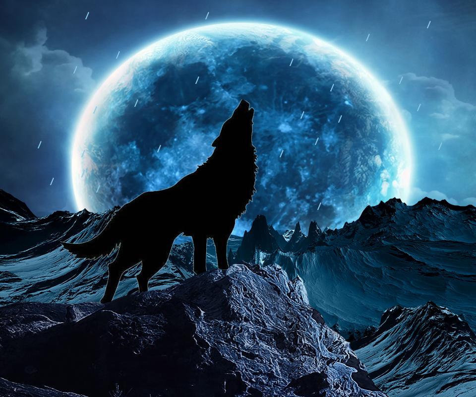 Blue Moon Wolf Live Wallpaper 1 02 Apk Download Com Wolf Bluemoon Livewallpaper Apk Free