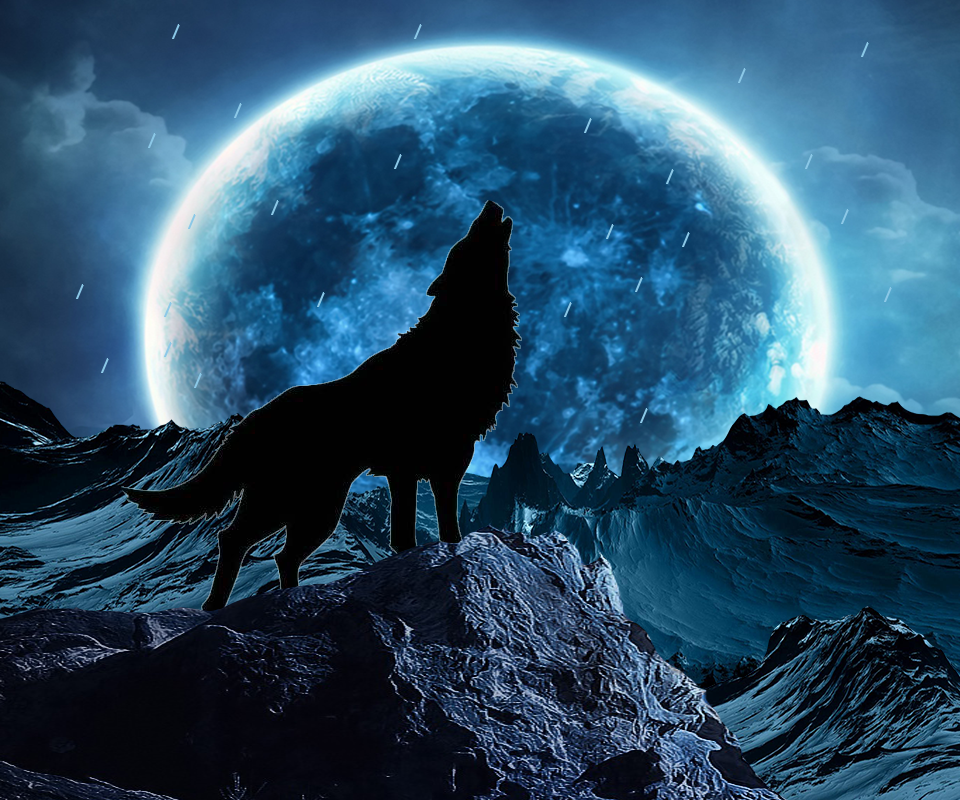 Candy Anime Girl Wallpaper Hd Blue Moon Wolf Live Wallpaper Android Apps On Google Play