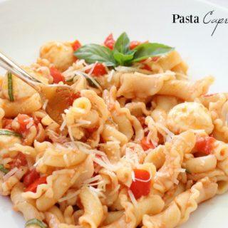 Mozzarella Tomato Basil Caprese Pasta Recipes