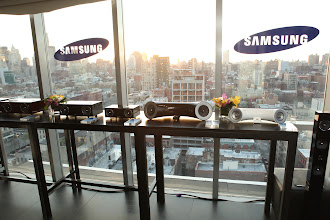 Photo: New audio systems shown off during our Samsung Audio event in NYC.