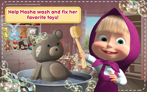 Masha and the Bear: House Cleaning Games for Girls  screenshots 22