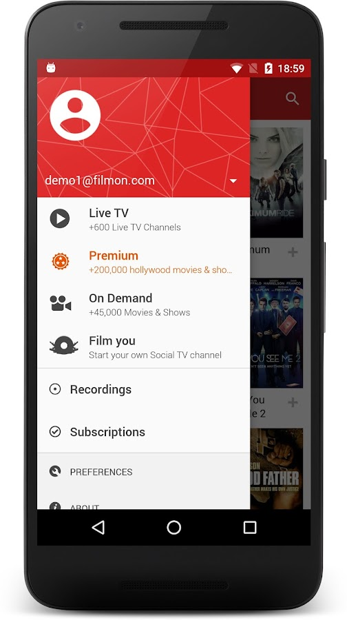 FilmOn Live TV FREE Chromecast- screenshot