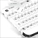 White Pearl Keyboard icon