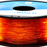Translucent Orange MH Build Series TPU Flexible Filament - 2.85mm (1kg)