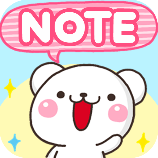 Sticky Notes White Bear