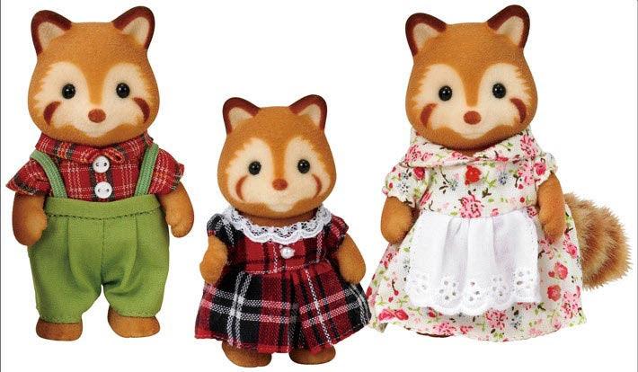 Contenido real de SF 5215 Familia de Pandas Rojos