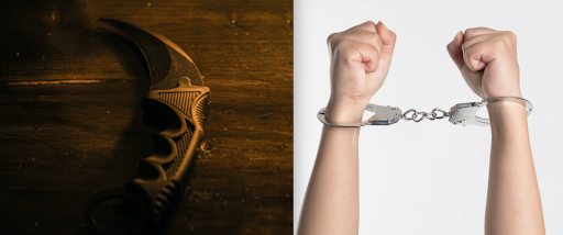 Police arrest 7 suspects for rioting while armed with karambit knife