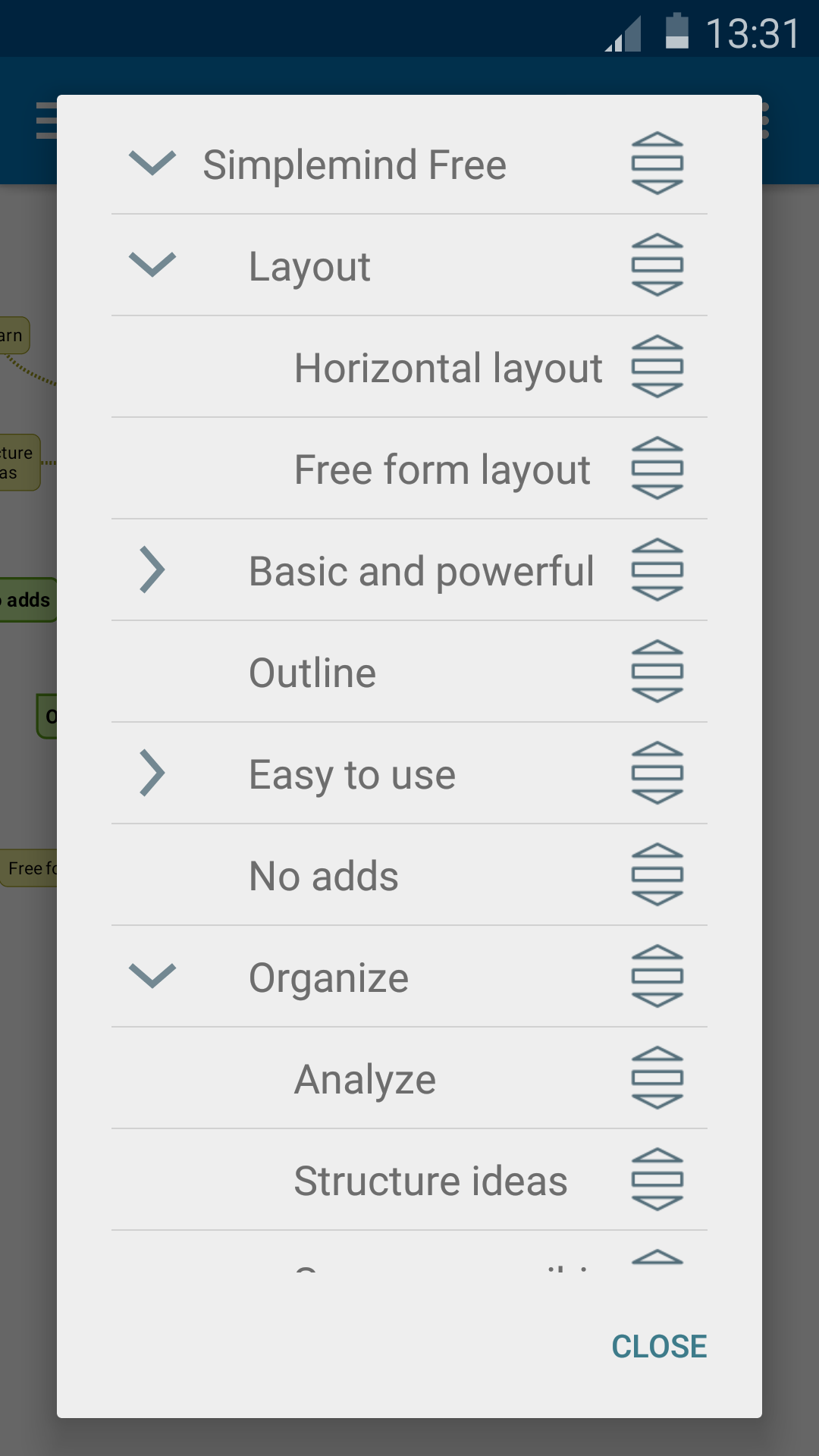SimpleMind Free mind mapping screenshot #6