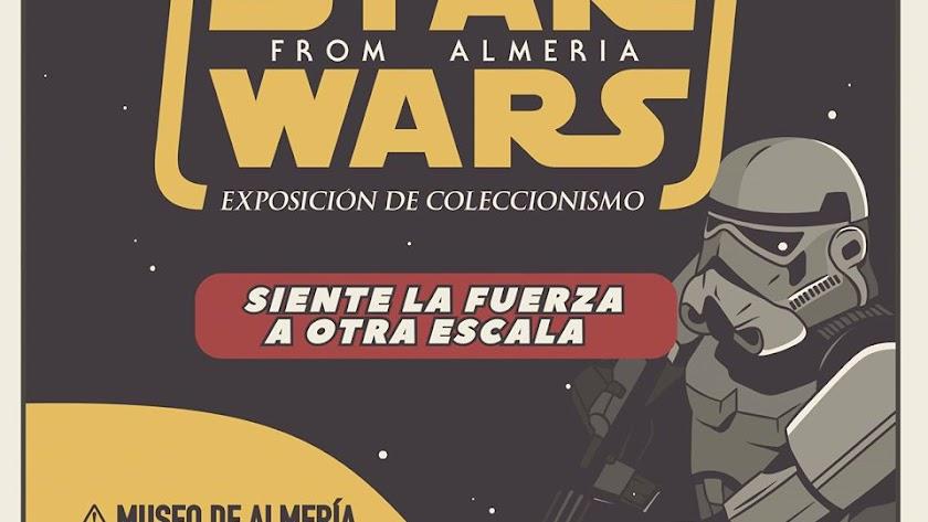 Cartel de la Exposición de Coleccionismo de piezas de Star Wars en el Museo de Almería.