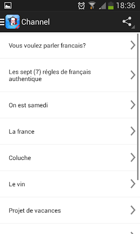 android learn french speak french Screenshot 1