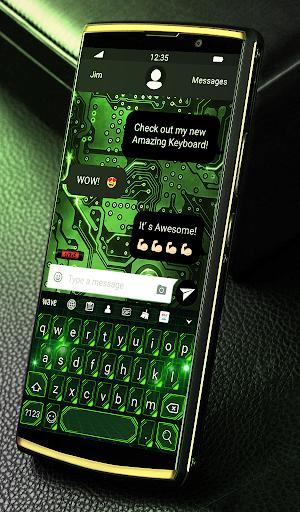 Green Light Animated Keyboard + Live Wallpaper screenshot 2