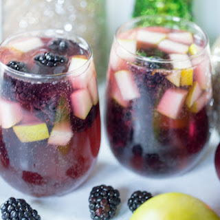 Spiced Blackberry Pear Sangria.