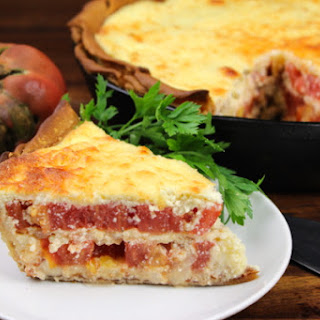 Cheesy Italian Tomato Pie